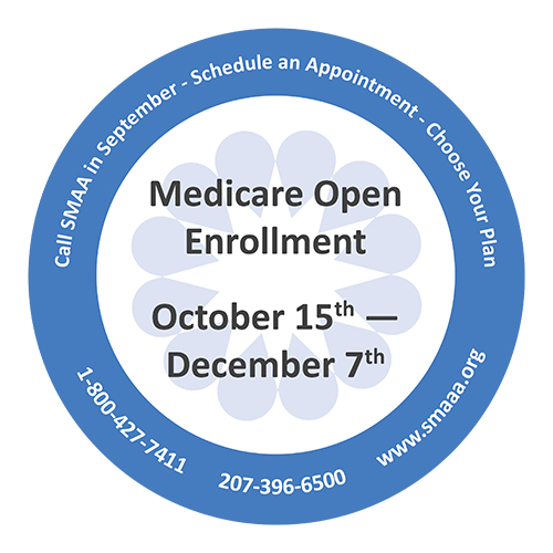 text: Medicare open enrollment October 15 through December 7