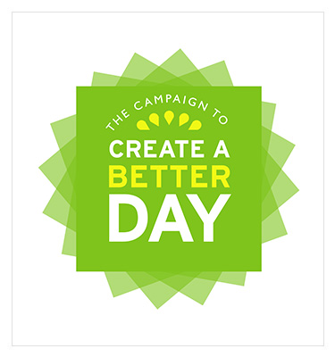 the campaign to create a better day logo