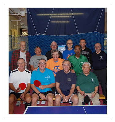 group of table tennis athletes